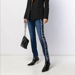 Stylish shiny trendy jeans